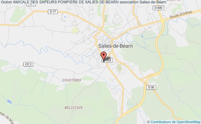 plan association Amicale Des Sapeurs Pompiers De Salies-de-bearn