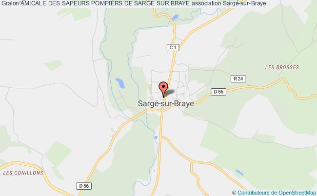 plan association Amicale Des Sapeurs Pompiers De Sarge Sur Braye