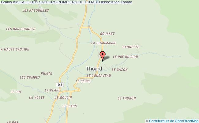 plan association Amicale Des Sapeurs-pompiers De Thoard