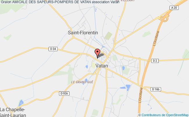 plan association Amicale Des Sapeurs-pompiers De Vatan Vatan