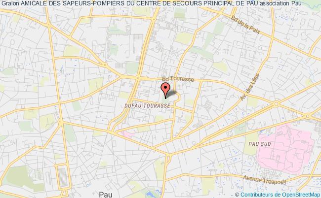 plan association Amicale Des Sapeurs-pompiers Du Centre De Secours Principal De Pau