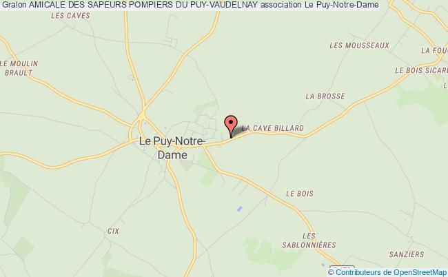 plan association Amicale Des Sapeurs Pompiers Du Puy-vaudelnay Le Puy-Notre-Dame