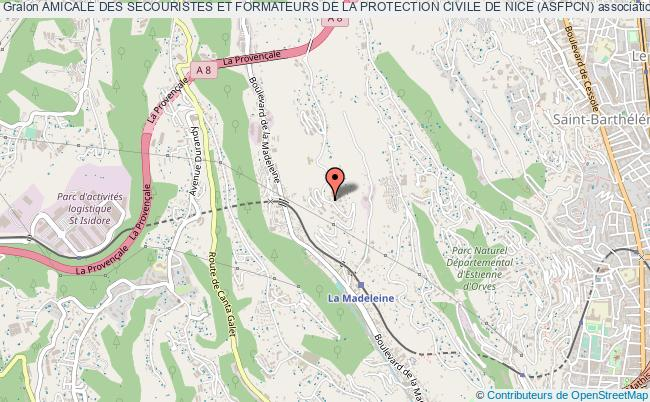 plan association Amicale Des Secouristes Et Formateurs De La Protection Civile De Nice (asfpcn) Nice