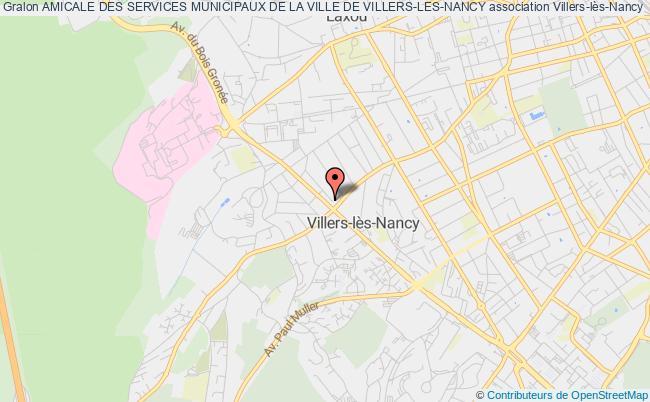 plan association Amicale Des Services Municipaux De La Ville De Villers-les-nancy