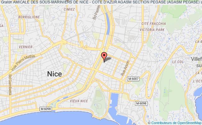 plan association Amicale Des Sous-mariniers De Nice - Cote D'azur Agasm Section Pegase (agasm Pegase) Nice