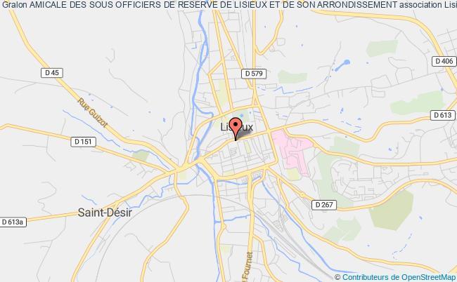 plan association Amicale Des Sous Officiers De Reserve De Lisieux Et De Son Arrondissement