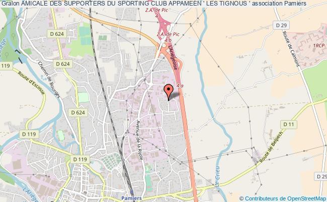 plan association Amicale Des Supporters Du Sporting Club Appameen ' Les Tignous '
