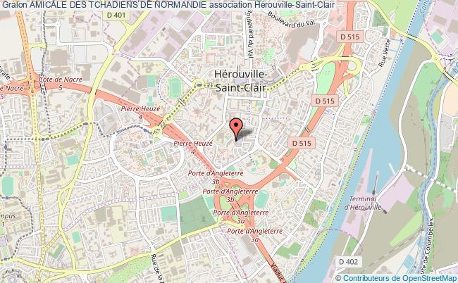 plan association Amicale Des Tchadiens De Normandie