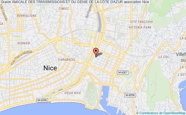plan association Amicale Des Transmissions Et Du GÉnie De La CÔte D'azur Nice