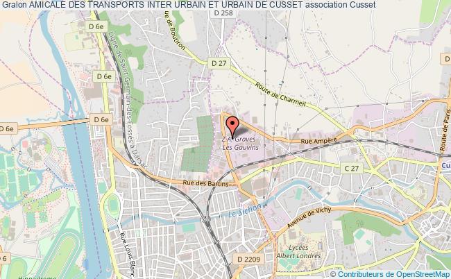 plan association Amicale Des Transports Inter Urbain Et Urbain De Cusset
