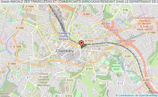 plan association Amicale Des Travailleurs Et Commercants Marocains Residant Dans Le Departement De La Savoie