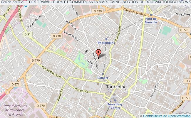 plan association Amicale Des Travailleurs Et Commercants Marocains (section De Roubaix Tourcoing Wattrelos Wasquehal Hem Football) Tourcoing