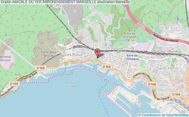 plan association Amicale Du 1er Arrondissement Marseille