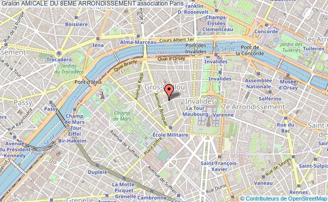 plan association Amicale Du 8eme Arrondissement