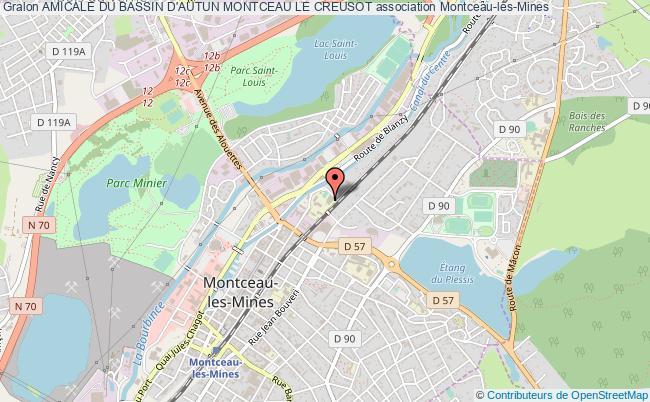 plan association Amicale Du Bassin D'autun Montceau Le Creusot