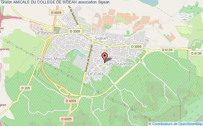 plan association Amicale Du College De Sigean Sigean