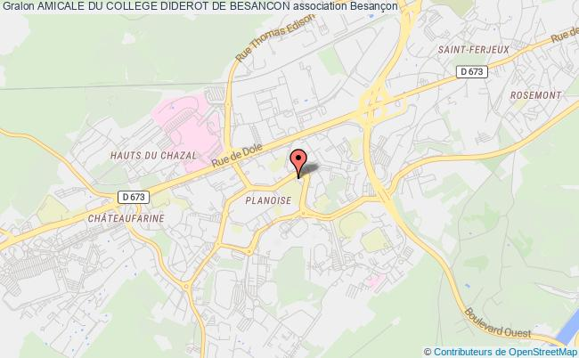 plan association Amicale Du College Diderot De Besancon