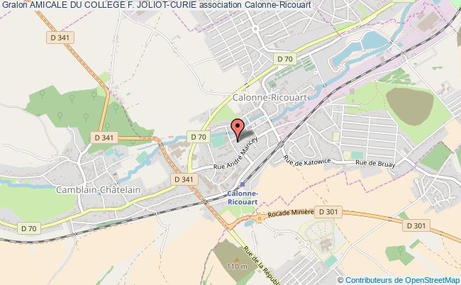 plan association Amicale Du College F. Joliot-curie