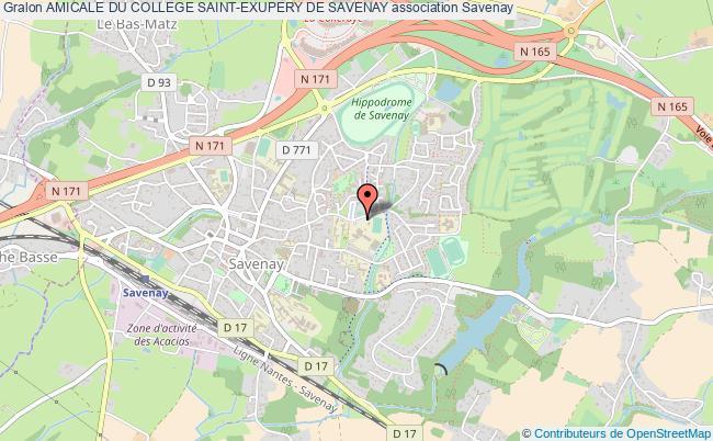 plan association Amicale Du College Saint-exupery De Savenay