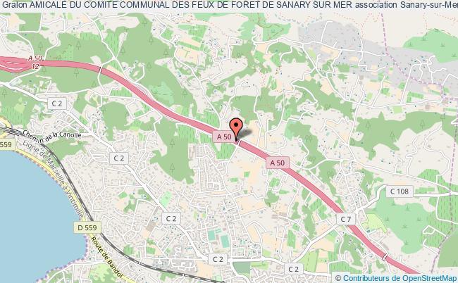 plan association Amicale Du Comite Communal Des Feux De Foret De Sanary Sur Mer