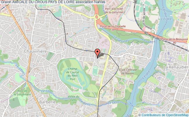 plan association Amicale Du Crous Pays De Loire