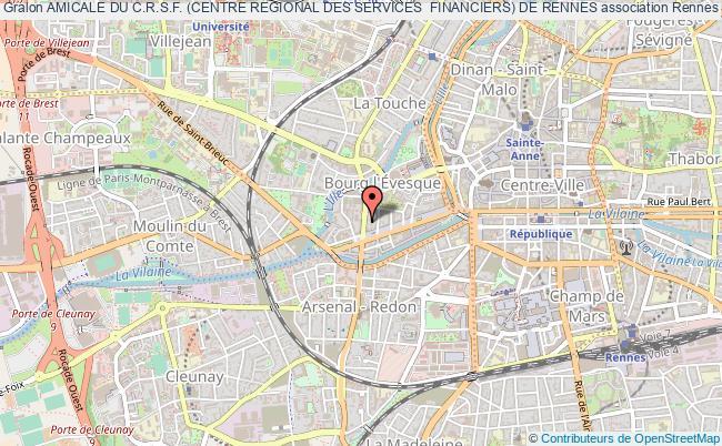 plan association Amicale Du C.r.s.f. (centre Regional Des Services  Financiers) De Rennes Rennes