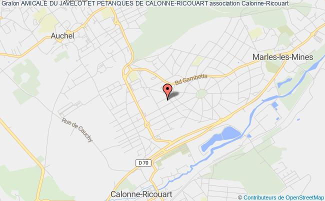 plan association Amicale Du Javelot Et PÉtanques De Calonne-ricouart