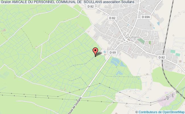 plan association Amicale Du Personnel Communal De  Soullans