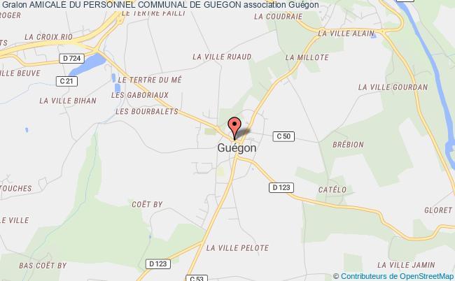 plan association Amicale Du Personnel Communal De Guegon Guégon