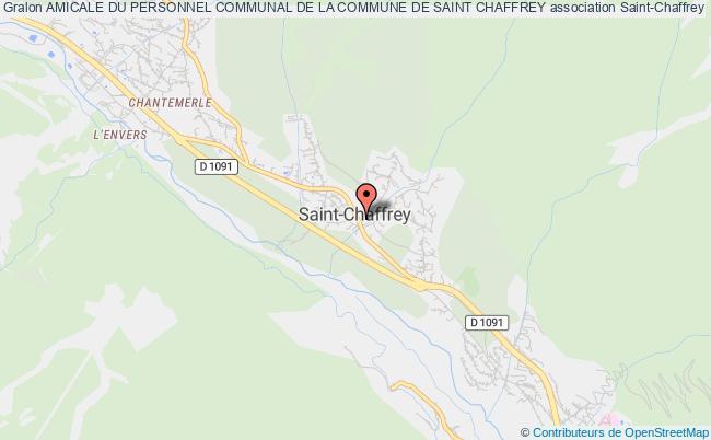 plan association Amicale Du Personnel Communal De La Commune De Saint Chaffrey