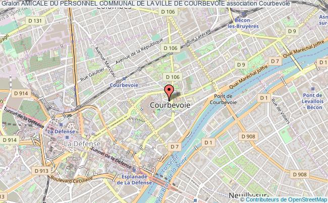 plan association Amicale Du Personnel Communal De La Ville De Courbevoie Courbevoie