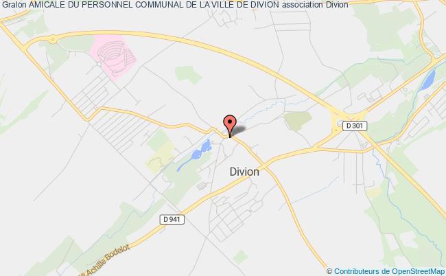 plan association Amicale Du Personnel Communal De La Ville De Divion
