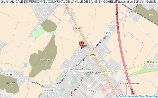 plan association Amicale Du Personnel Communal De La Ville De Sains En Gohelle