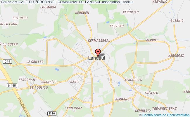 plan association Amicale Du Personnel Communal De Landaul Landaul