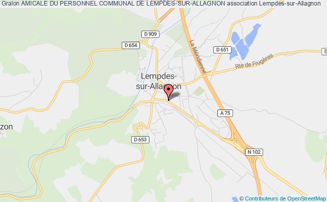 plan association Amicale Du Personnel Communal De Lempdes-sur-allagnon Lempdes-sur-Allagnon