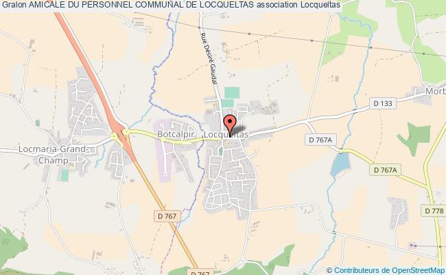 plan association Amicale Du Personnel Communal De Locqueltas Locqueltas