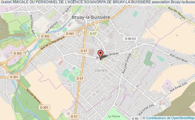 plan association Amicale Du Personnel De L'agence Soginorpa De Bruay-la-buissiere