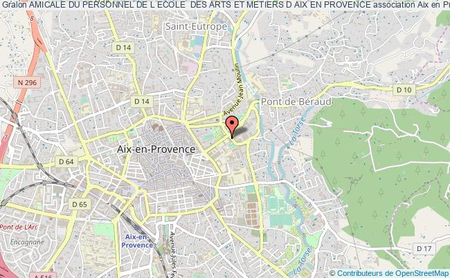 plan association Amicale Du Personnel De L Ecole  Des Arts Et Metiers D Aix En Provence