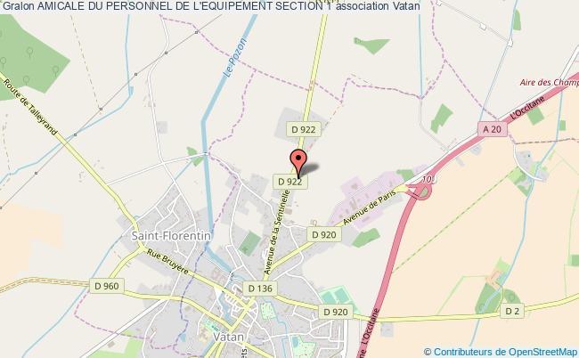 plan association Amicale Du Personnel De L'equipement Section 1 Vatan