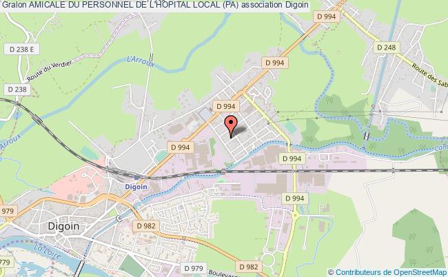 plan association Amicale Du Personnel De L'hopital Local (pa) Digoin