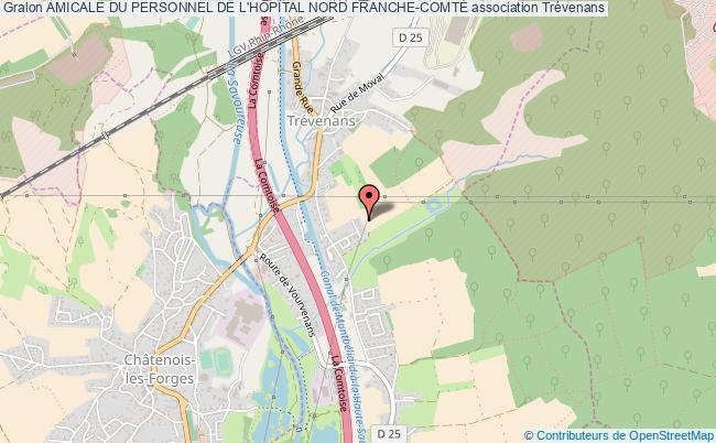 plan association Amicale Du Personnel De L'hÔpital Nord Franche-comtÉ