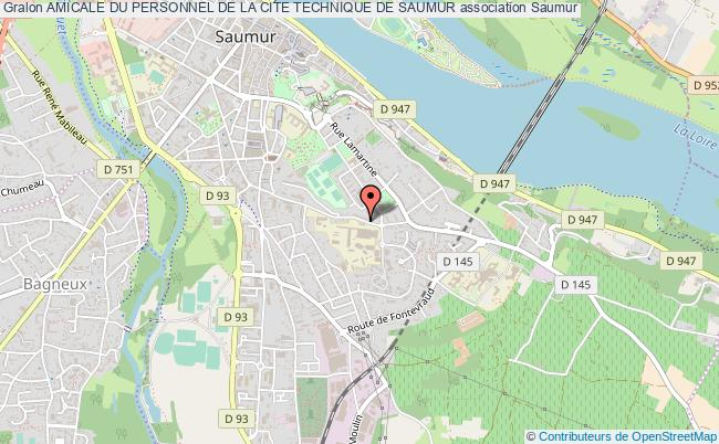 plan association Amicale Du Personnel De La Cite Technique De Saumur