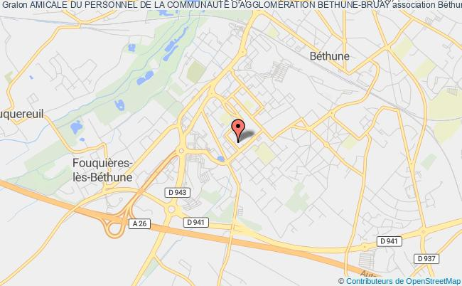 plan association Amicale Du Personnel De La CommunautÉ D'agglomÉration Bethune-bruay