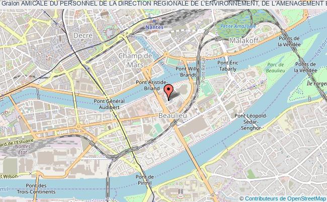 plan association Amicale Du Personnel De La Direction Regionale De L'environnement, De L'amenagement Et Du Logement (dreal) Des Pays De La Loire