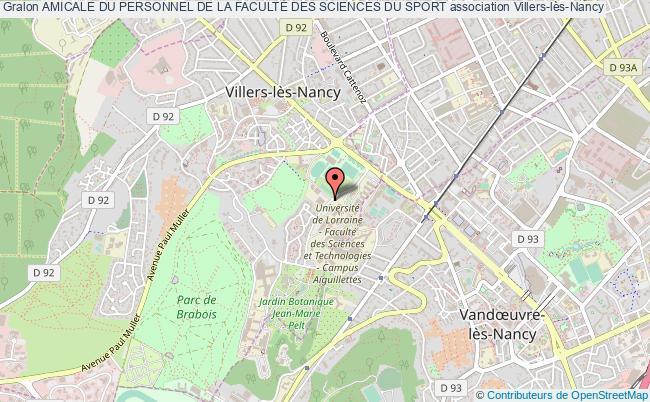 plan association Amicale Du Personnel De La FacultÉ Des Sciences Du Sport