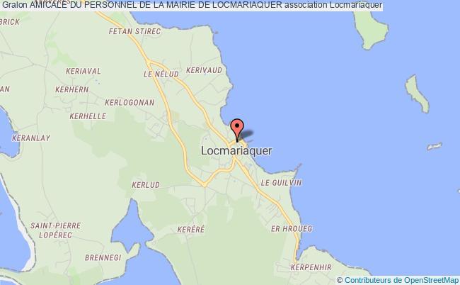 plan association Amicale Du Personnel De La Mairie De Locmariaquer