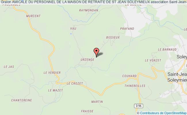 plan association Amicale Du Personnel De La Maison De Retraite De St Jean Soleymieux Saint-Jean-Soleymieux