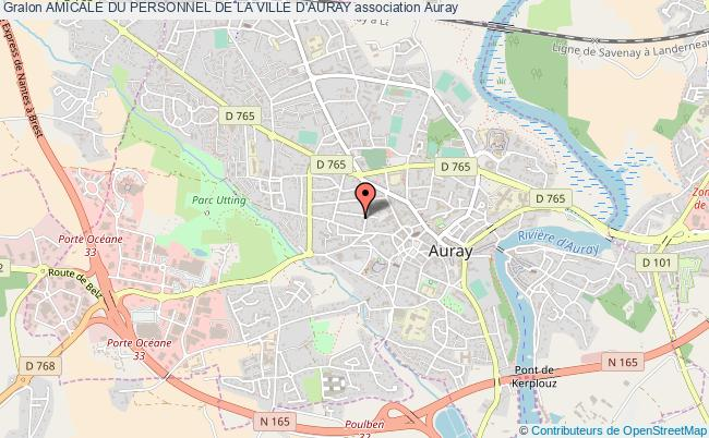 plan association Amicale Du Personnel De La Ville D'auray