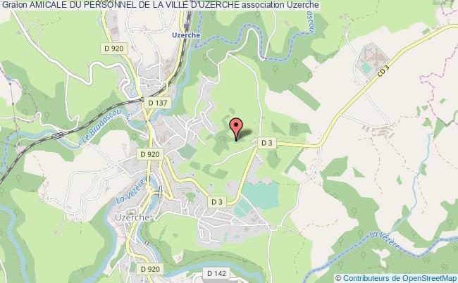 plan association Amicale Du Personnel De La Ville D'uzerche