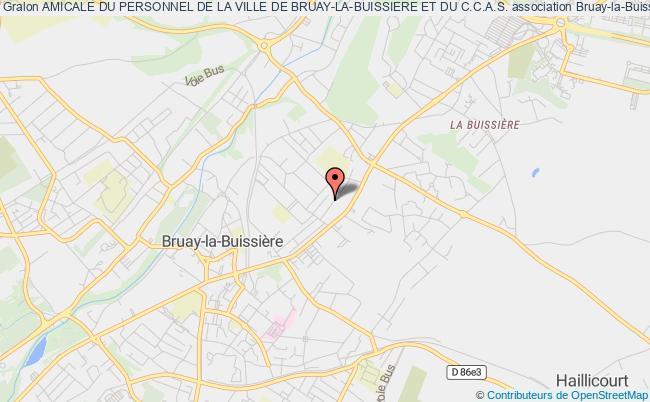 plan association Amicale Du Personnel De La Ville De Bruay-la-buissiere Et De La Communaute Du Bruaysis
